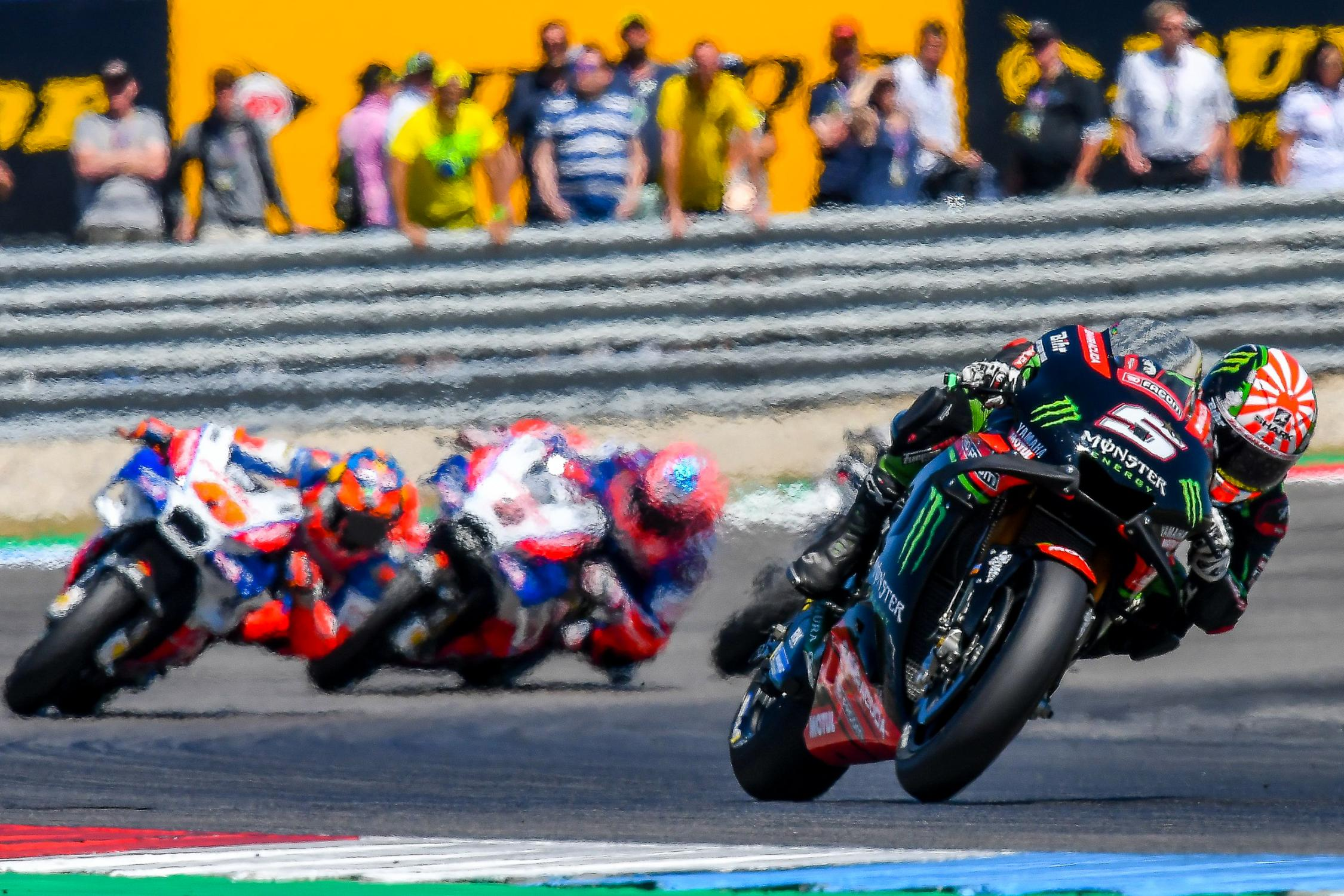Zarco's early season form has gone missing recently, but he wasn't far away  from the leaders.